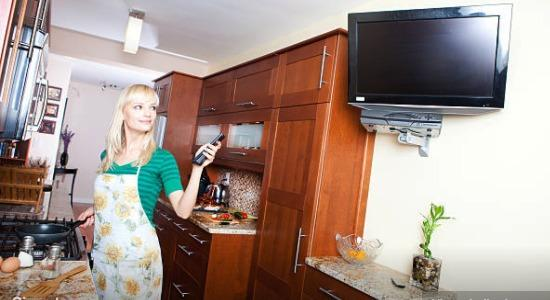 kitchen remodel tv docking
